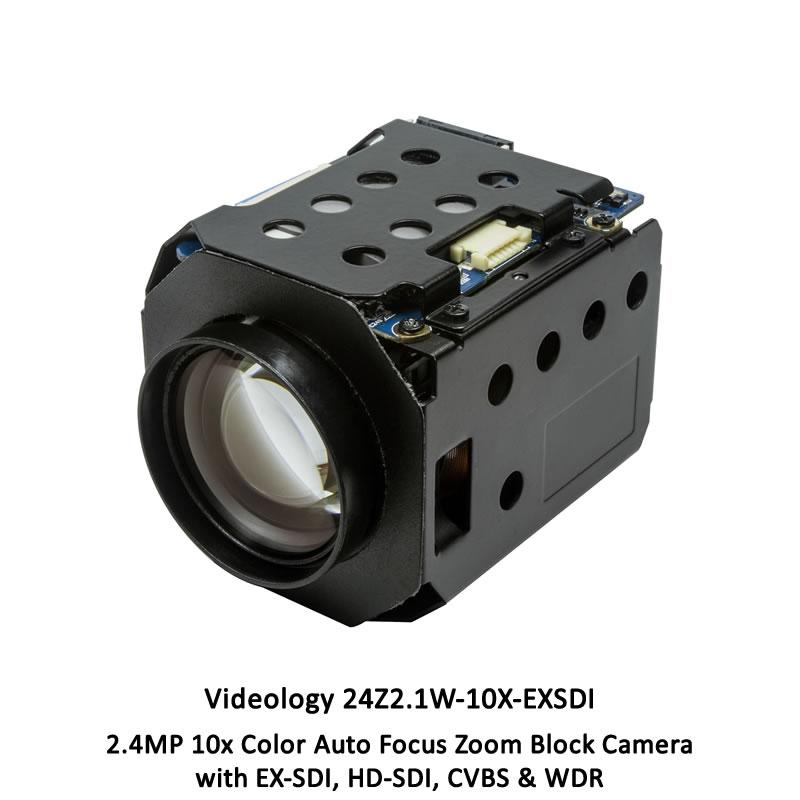 Videology 24Z2.1W-10X-EXSDI 2.4MP 10x AFZ Ultra Sensitive Block Camera