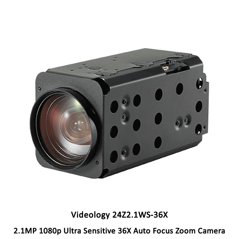 Videology 24Z2.1WS-36X 2.1MP 1080p Ultra Sensitive 36X Auto Focus Zoom Camera