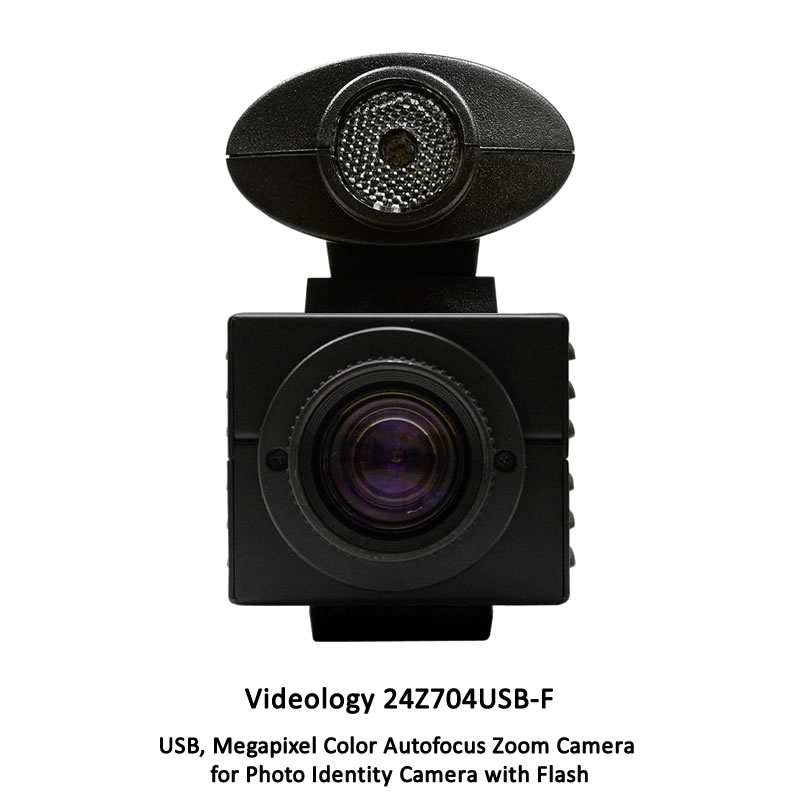 Videology 24Z704USB-KIT-F Badging Camera with Flash