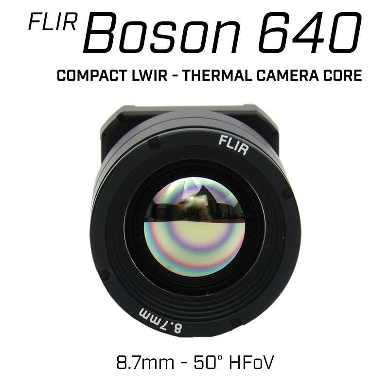 FLIR BOSON 640 x 512 8.7mm 50° HFoV - LWIR Thermal Camera Core