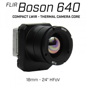 FLIR BOSON 640 x 512 18mm 24° HFoV - LWIR Thermal Camera Core