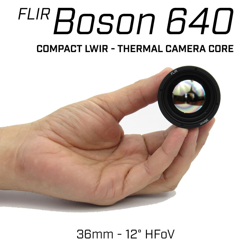 FLIR BOSON 640 x 512 36mm 12° HFoV - LWIR Thermal Camera Core