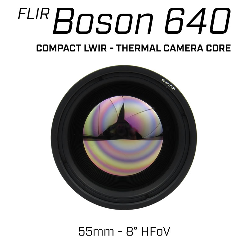 FLIR BOSON 640 x 512 55mm 8° HFoV - LWIR Thermal Camera Core