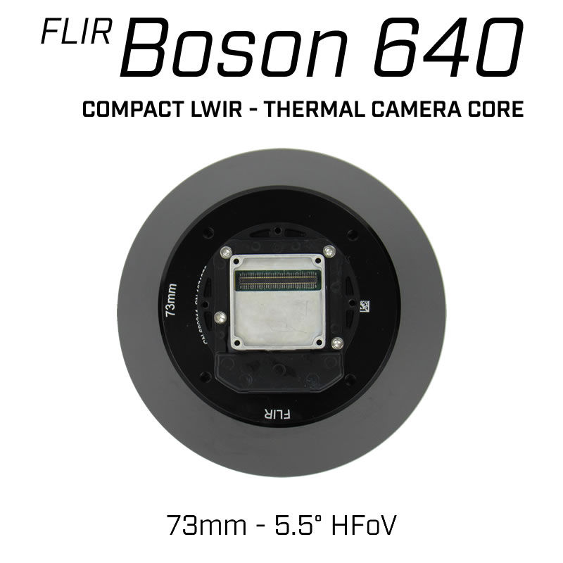 FLIR BOSON 640 x 512 73mm 5.5° HFoV - LWIR Thermal Camera Core