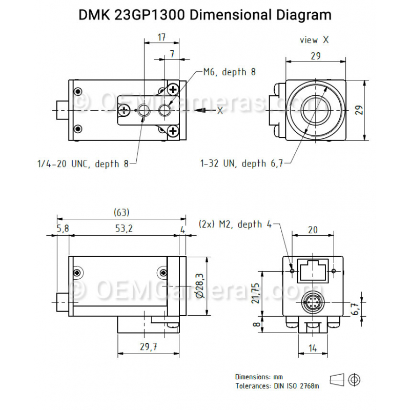DFK 33GP1300 GigE Color Industrial Camera