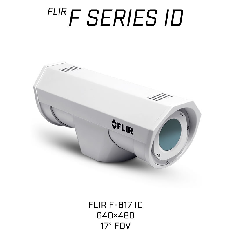 FLIR F-617 ID 640 x 480 35MM 17° HFOV - LWIR Thermal Analytics Security Camera