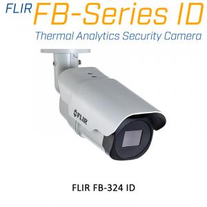 FLIR FB-324-ID 320 x 240 12.8MM 24° HFOV - LWIR Thermal Analytics Security Camera
