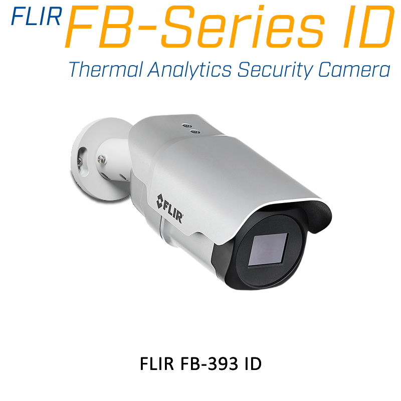 FLIR FB-393-ID 320 x 240 3.7MM 93° HFOV - LWIR Thermal Analytics Security Camera