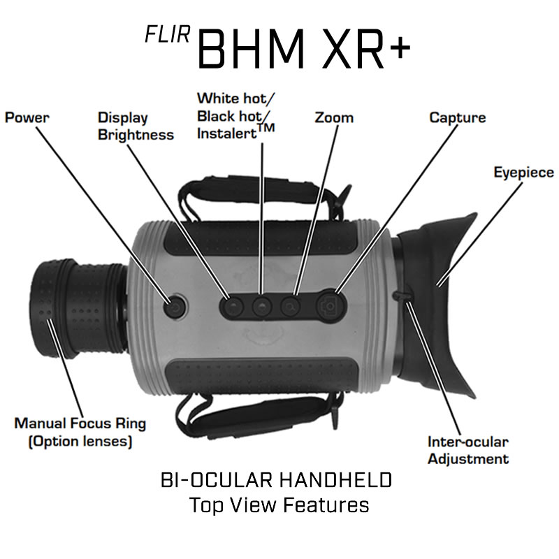 FLIR BHM-XR+ 100MM BI-OCULAR HANDHELD THERMAL NIGHT VISION CAMERA