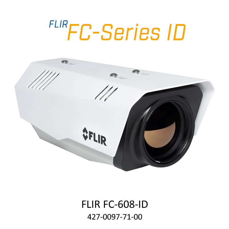 FLIR FC-608-ID 640 x 480 75MM 8.6° HFOV - LWIR Thermal Analytics Security Camera
