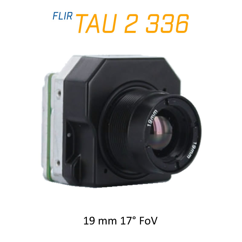 FLIR Tau 2 336 x 256 19mm 17°HFoV - LWIR Thermal Imaging Camera Core 30Hz
