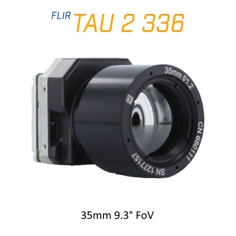 FLIR Tau 2 336 x 256 35mm 9.3°HFoV - LWIR Thermal Imaging Camera Core 30Hz