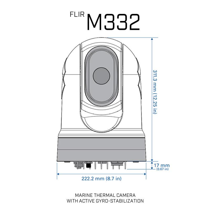 Teledyne FLIR M332 Marine Thermal Camera with Active Gyro-Stabilization