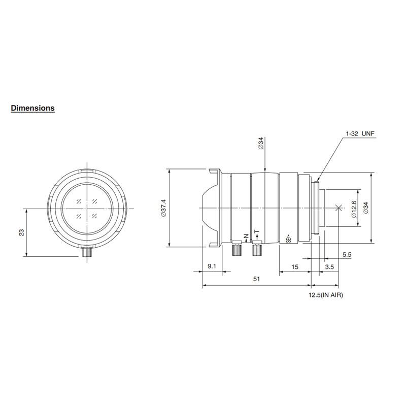 T2Z1816CS Varifocal Lens
