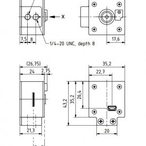 DFK 22AUC03-F USB 2.0 color autofocus camera