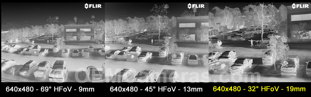 FLIR VUE PRO 640 Thermal Imager 19mm Lens - 30Hz Image Comparison