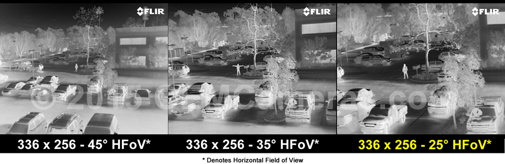 FLIR VUE PRO R 336 Thermal Imager 13mm Lens - 30/60Hz Image Comparison