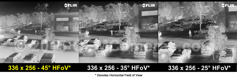 FLIR VUE PRO R 336 Thermal Imager 6.8mm Lens - 30/60Hz Image Comparison