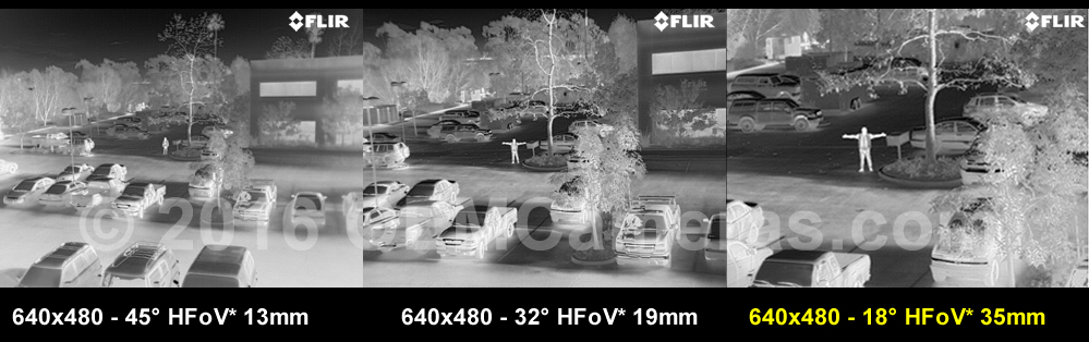 FLIR VUE PRO 640 Thermal Imager 35mm Lens - 30Hz Image Comparison