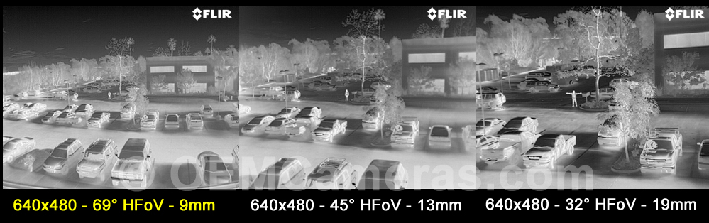 FLIR VUE PRO 640 Thermal Imager 9mm Lens - 30Hz Image Comparison